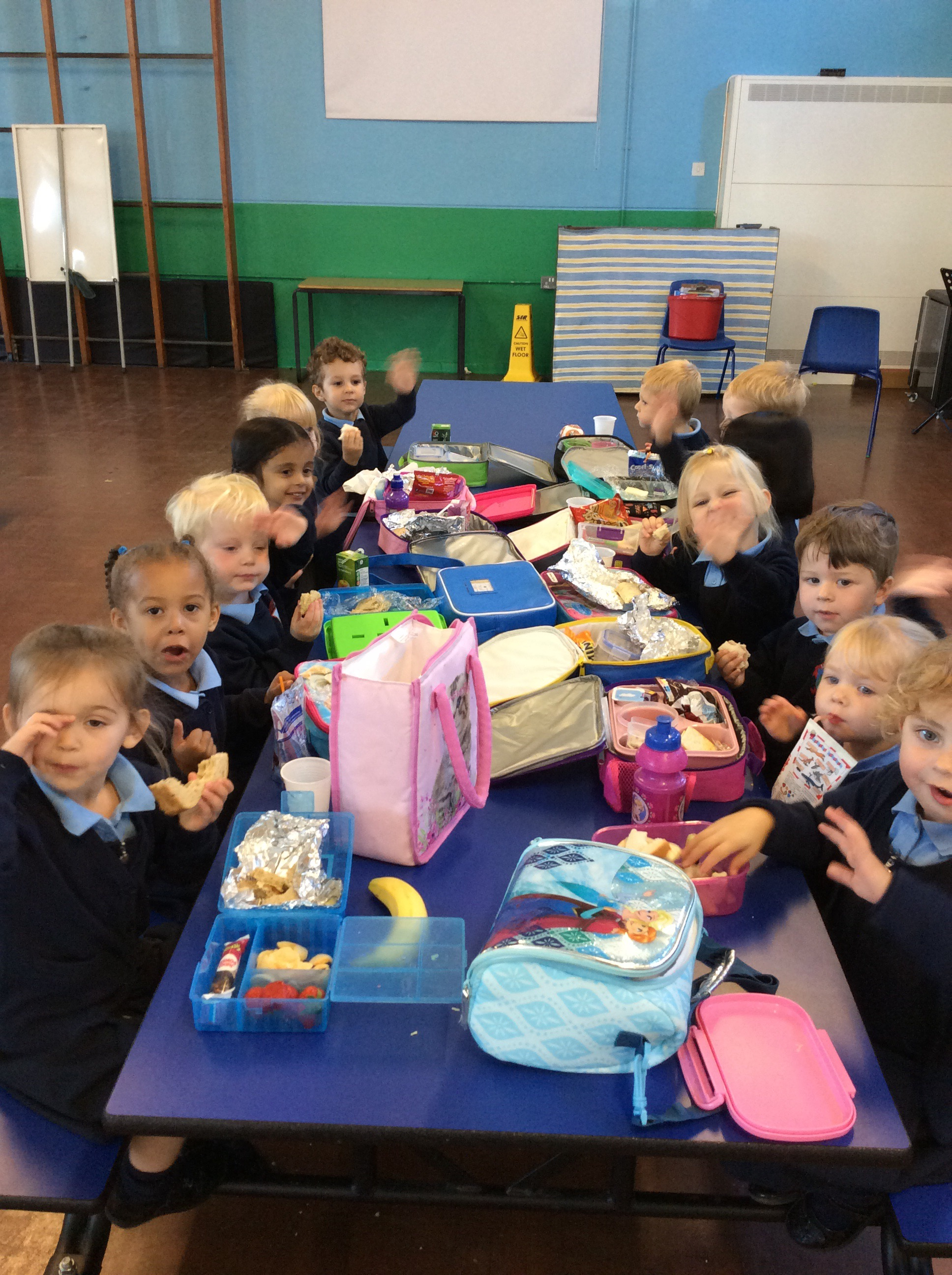 lunch in the dinner hall   u2013 lickey hills primary school