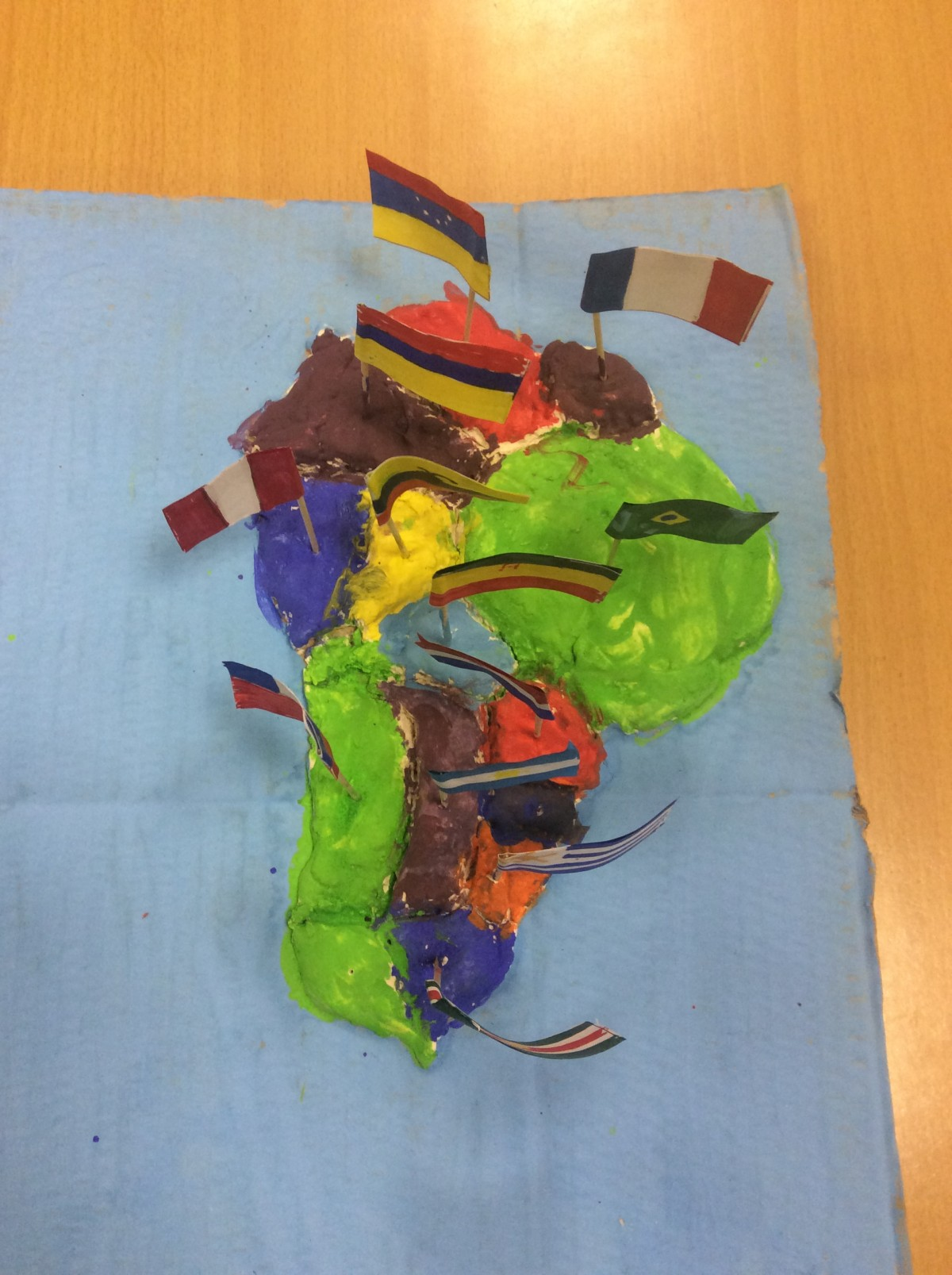3D maps of South America! – Lickey Hills Primary School and Nursery