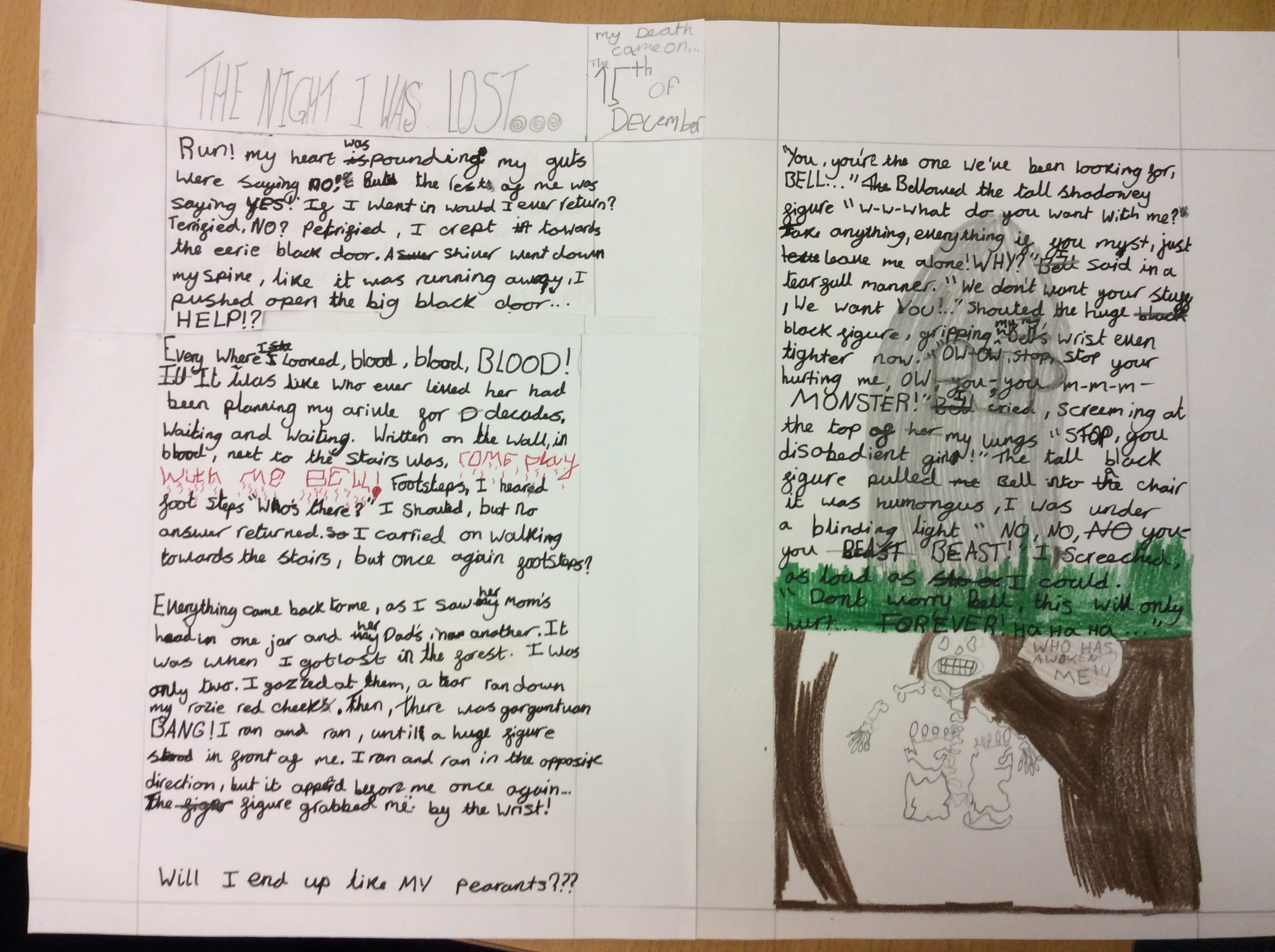 Y6 scary, suspense stories – Lickey Hills Primary School and